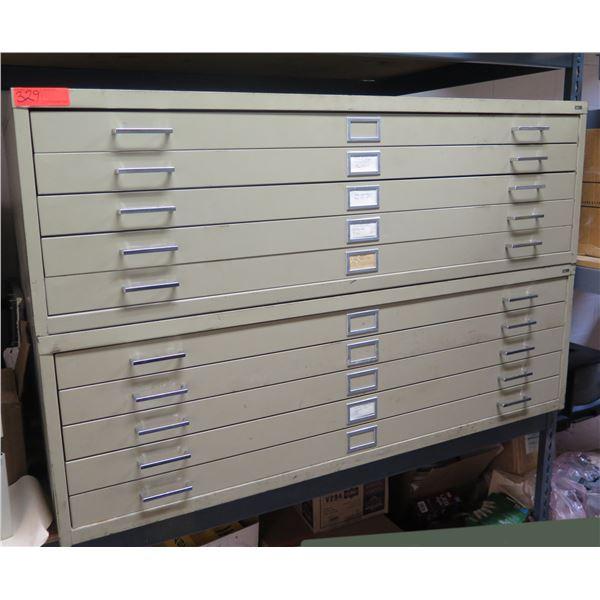 Safco Metal 10-Drawer Blueprint Cabinet