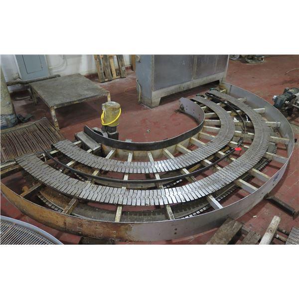 "Lanham 7705 Semi-Circle Dual Conveyor Belt System 13'5""L x 44""W"