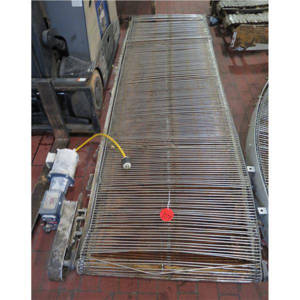 Metal Roller Conveyor w/ Grove Gear Ironman Gear Box GRG-BM-821-30-L-56