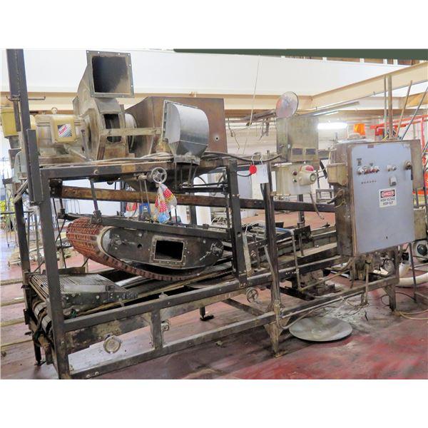 Cabinet w/  Moulder Panel & Dual Conveyor Belts System