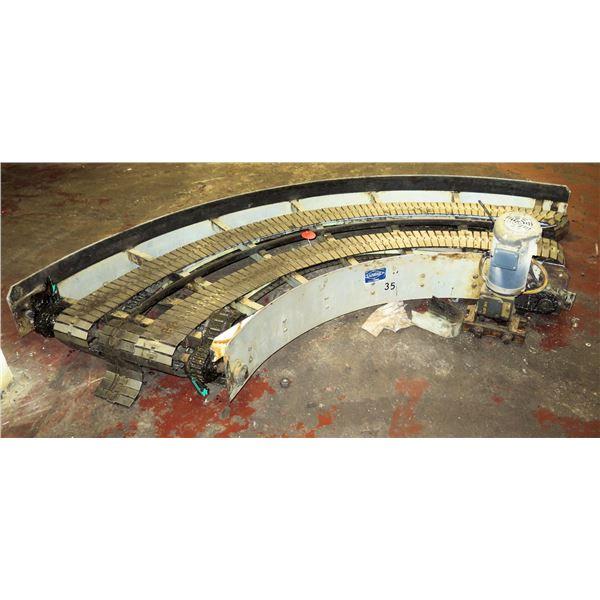 "Lanham 7705 Semi-Circle Dual Conveyor Belt System 10""2""L x 447""W"