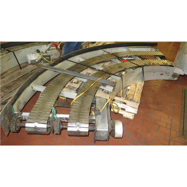 "Semi-Circle Dual Conveyor Belt 10'2""L x 39""W"