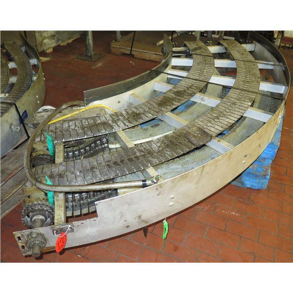 "Semi-Circle Dual Conveyor Belt 11'L x 39""W"
