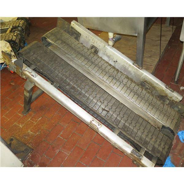 "Standing Dual Conveyor Belt System 63""L x 30""W x 34""H"