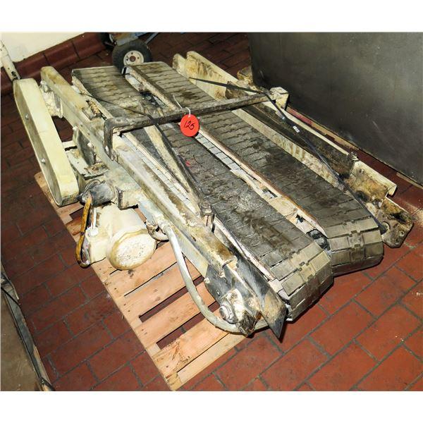 "Standing Dual Conveyor Belt System 48""L x 31""W"