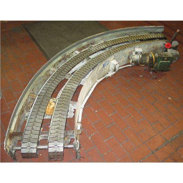 "Lanham 1705 Semi-Circle Dual Conveyor Belt 9'L x 24""W"