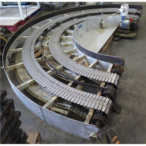 "Lanham Semi-Circle Dual Conveyor Belt 13'6""L x 44""W"