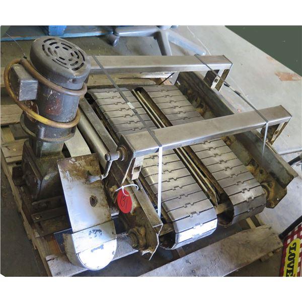"Dual Conveyor Belt System 34""L x 30""W"