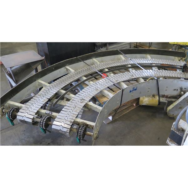 Lanham 7705 Semi-Circle Dual Conveyor Belt 10'L