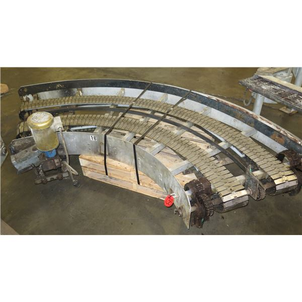 "Lanham Semi-Circle Dual Conveyor Belt 10'6""L x 44""W"