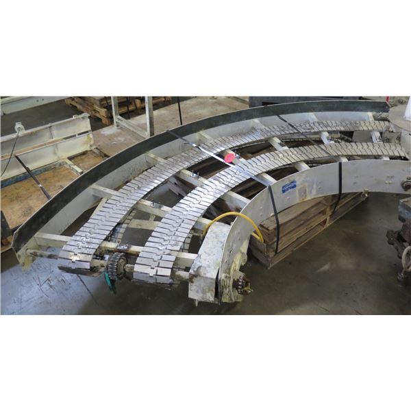 "Lanham 7705 Semi-Circle Dual Conveyor Belt 10'2""L x 44""W"