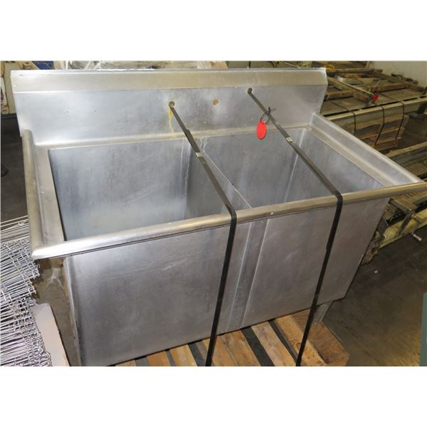 """Metal Rectangle Double Sink 55""""x27""""x35""""H"""