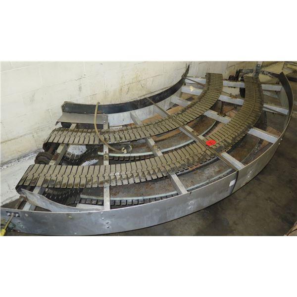 """Semi-Circle Dual Conveyor Belt 10'2""""L"""