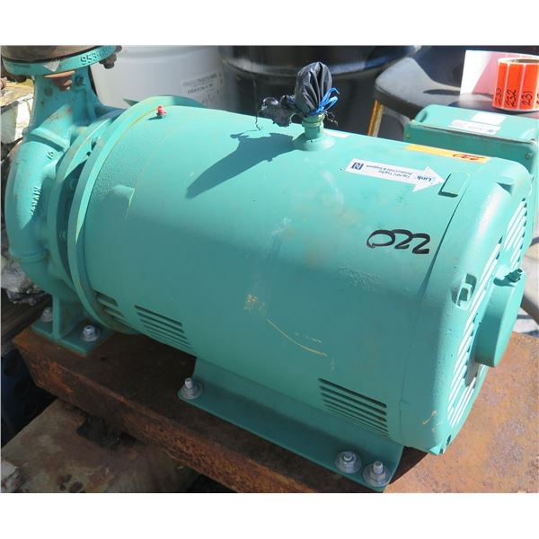 Baldor Reliance SuperE Motor EJMM2534T-G w/ Taco Pump