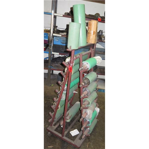 Metal Roll Stand w/ Multiple Sheeter Roller Sleeves