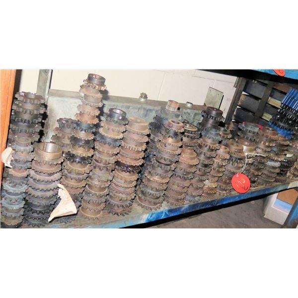 Contents of Shelf: Multiple Gears, Spiders, Bearings, etc