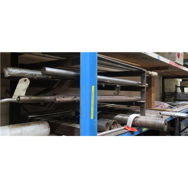 Contents of Shelf: Misc Length Rods, Steel Bars, etc