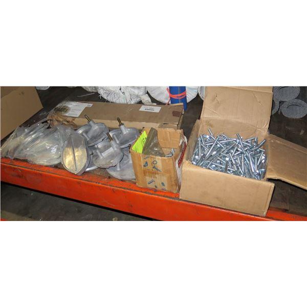 "Contents of Shelf:  Ozark 4"" Long Bolts, Martin GR25-26 Sprocket & Gears, etc"