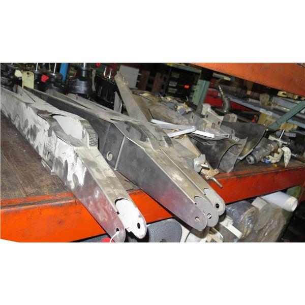 Contents of Shelf: Rebuilt Hydraulic Motor, PIRB Vacuum Pump, etc