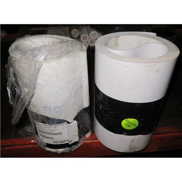 Qty 2 Rolls Ammeraal BelTech Ropanyl ESF 6/2 00+02 White FB