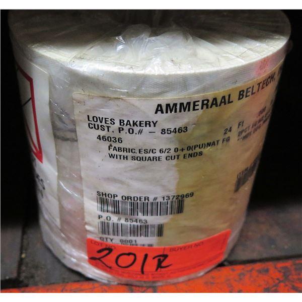 Roll Ammeraal BelTech Fabric ES/C 6/2 0+0 (PU) Nat FG Hot Dog Pressure Board