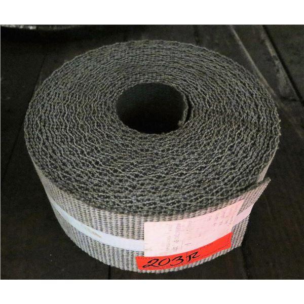 """Roll Solid Woven PVC Conveyor Belt 35'L x 4""""W"""