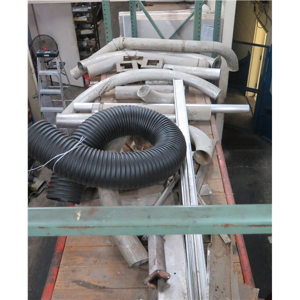 Contents of Shelf: Metal Lengths, Expanding Hose, Curved Pipe, Connectors