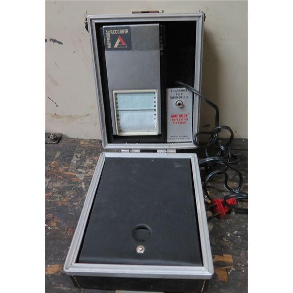 Amprobe Temperature Recorder w/ Resistance Bulb Thermometer in Case