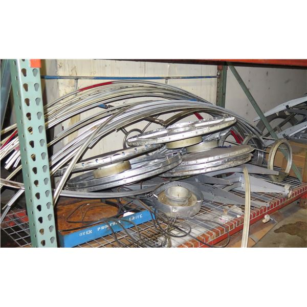 Multiple Curved Metal, Round Mesh Screens, Cylinder Assemblies, etc