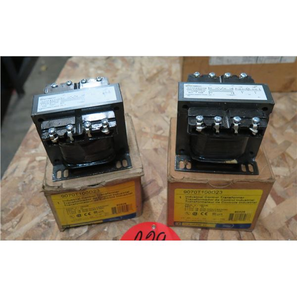 Qty 2 Industrial Control Transformers 9070T100D23 in Box