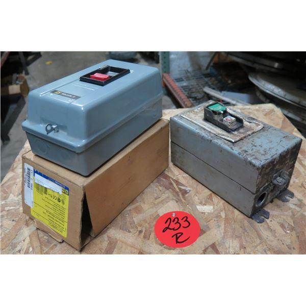 Square D AC Manual Starter 2510MBG2 & Allen-Bradley Circuit Protector
