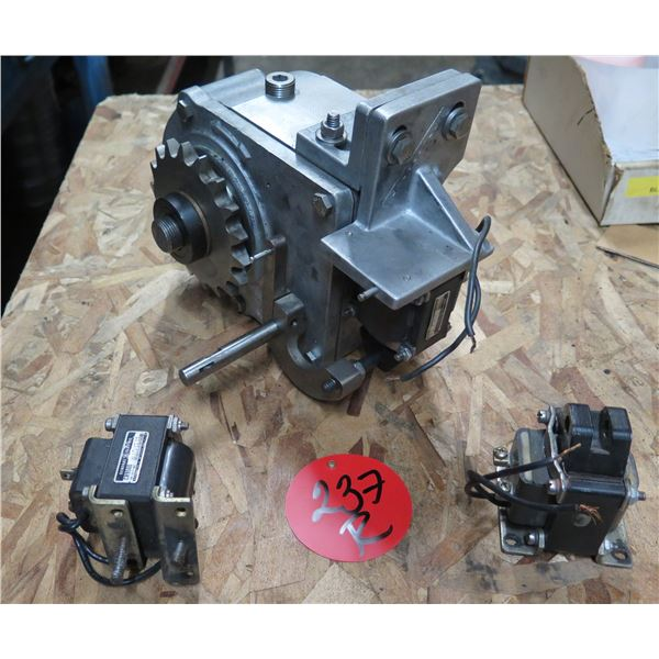 Qty 2 General Electric Solenoids CR9500 & Gear Motor