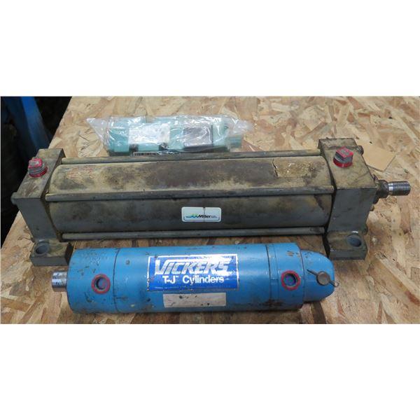Vickers T-J Cylinder, Numatics 228-714 & Miller Fluid Power