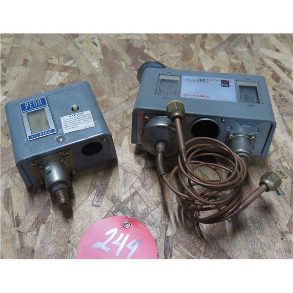 Penn All Range LBL141-1 & Johnson Controls P72LB-1 Pressure Controls