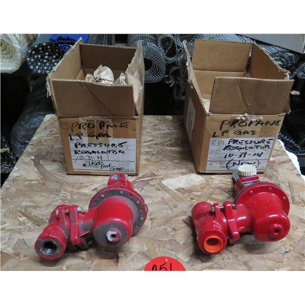 Qty 2 Fisher Controls Propane LP Gas Pressure Regulators