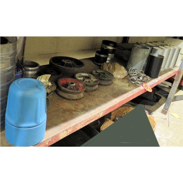 Contents of Shelf: Boxes Metal Halide, Metal Cylinders, Hinges, ASCO Dust Collectors