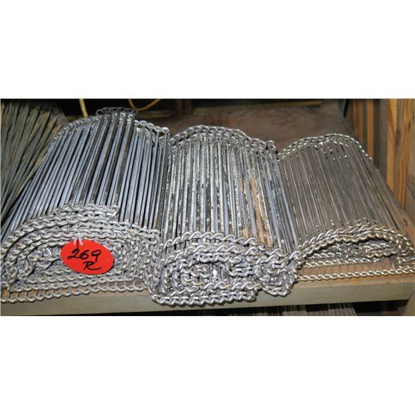 Multiple Rolls Metal Conveyor Belts Lengths on Gear Rollers