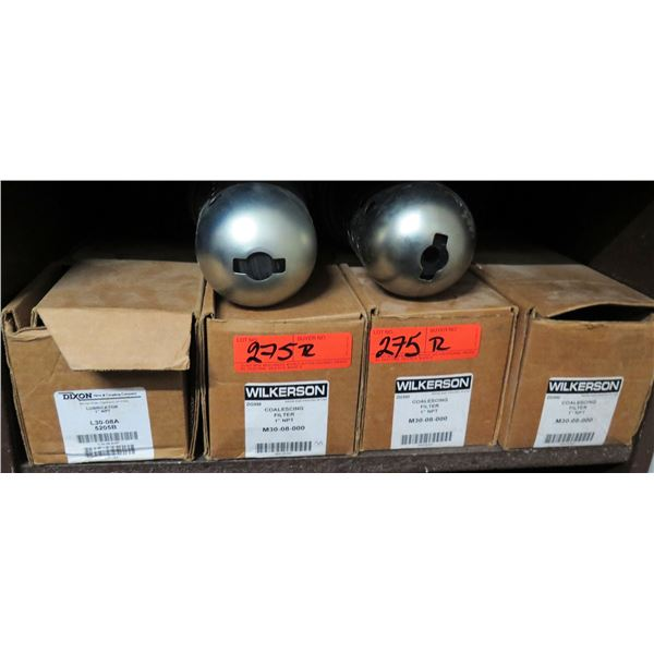 """Qty 4 Wilkerson Coalescing Filters 1"""" NPT M30-08-000"""