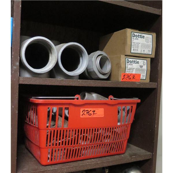 """Qty 2 Boxes Dottie 2"""" Straight Connectors SL200/90200, Appleton Unilet Connectors"""