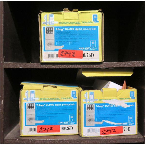 Qty 3 Boxes Alarm Lock Systems Trilogy DL4100 Digital  Privacy Locks 00/26D