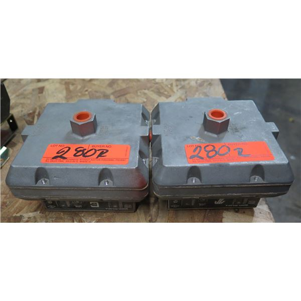 Qty 2 Chicago Safety Products RHLGP-A Double Pressure Switches
