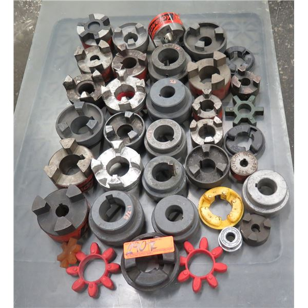 Multiple Metal & Plastic Lovejoy Bore Jaw Couplings & Spider Inserts
