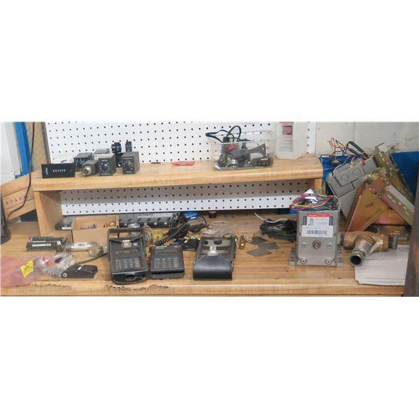 Contents of Shelf: Honeywell Valve Linkage, Modutrol IV Motor, Genius GE Fanuc, etc