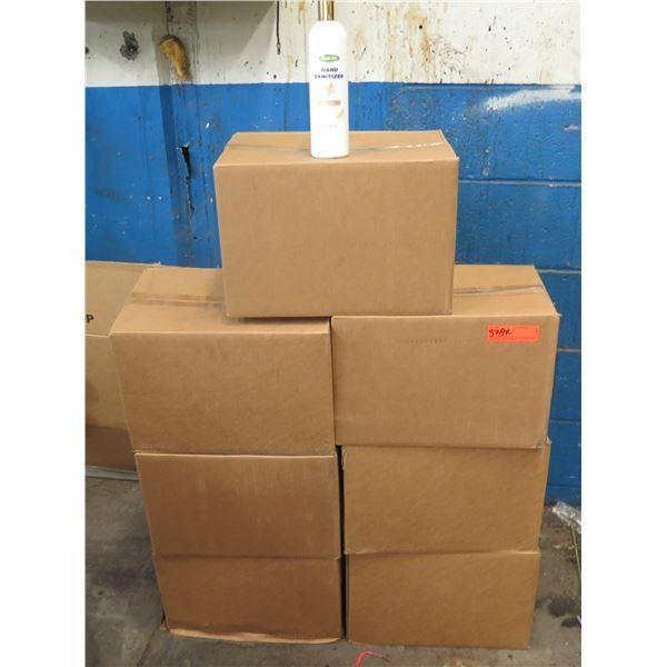 Qty 7 Boxes Clean Life Hand Sanitizer 16oz Bottles