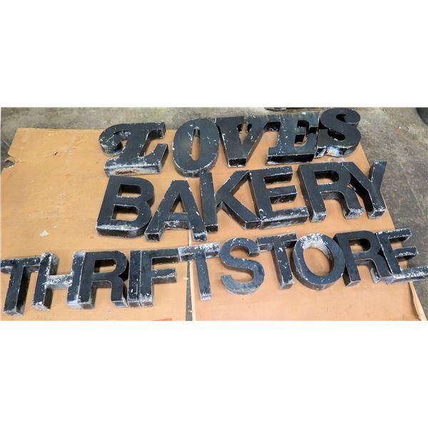 """Love's Bakery Thrift Store Lettering 75""""L"""