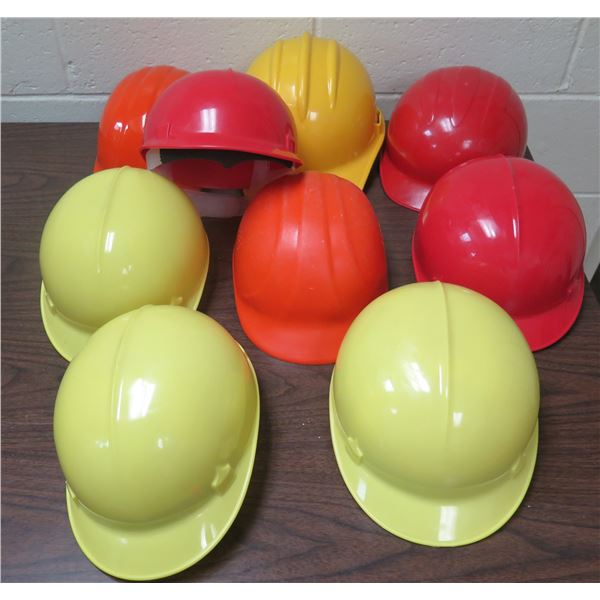 Qty 9 Red & Yellow Hard Hats