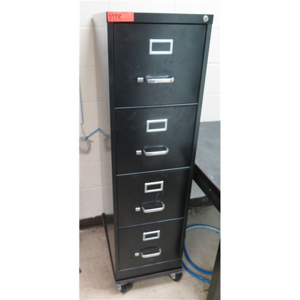 Metal 4 Drawer File Cabinet & Contents: Hygro-Thermometers, Gauges, Bushings, etc