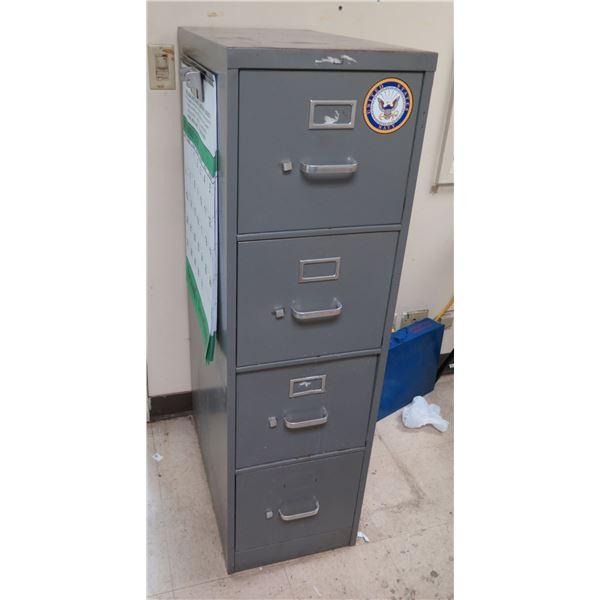 Metal 4 Drawer Gray File Cabinet