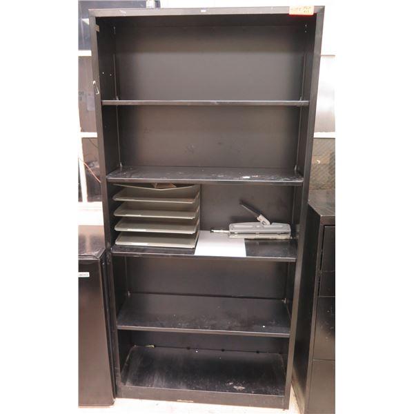 """HON Black 5 Tier Shelf w/ Organizer & Hole Punch 35""""x13""""x71""""H"""
