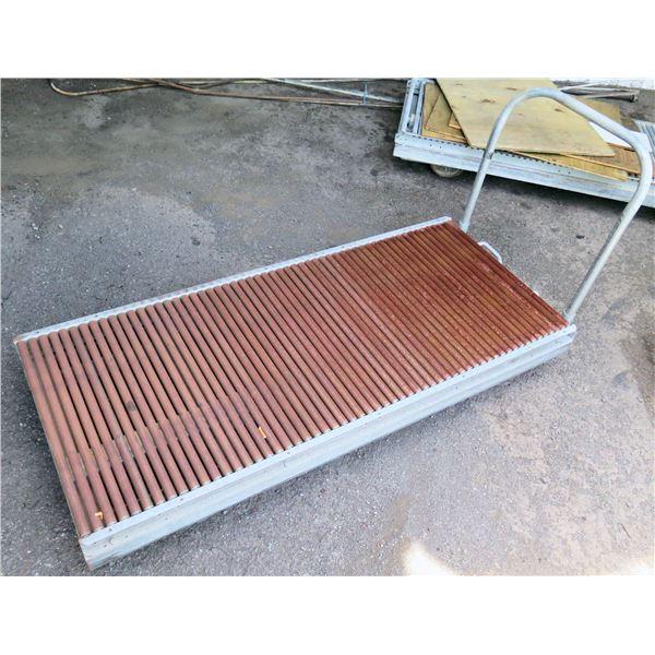 "Metal Cart w/ Roller Conveyor Platform 69""L x 29""W x 10""H"